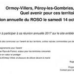Réunion annuelle d'information ROSO 2017